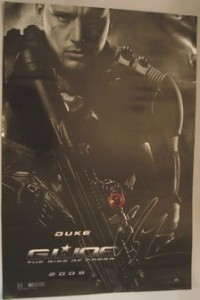Channing Tatum signing autographs jimmy kimmel live 2014 g i joe mini poster signed