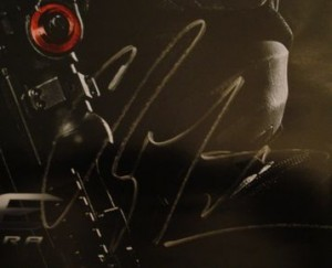 Channing Tatum signing autographs jimmy kimmel live 2014 g i joe mini poster signed