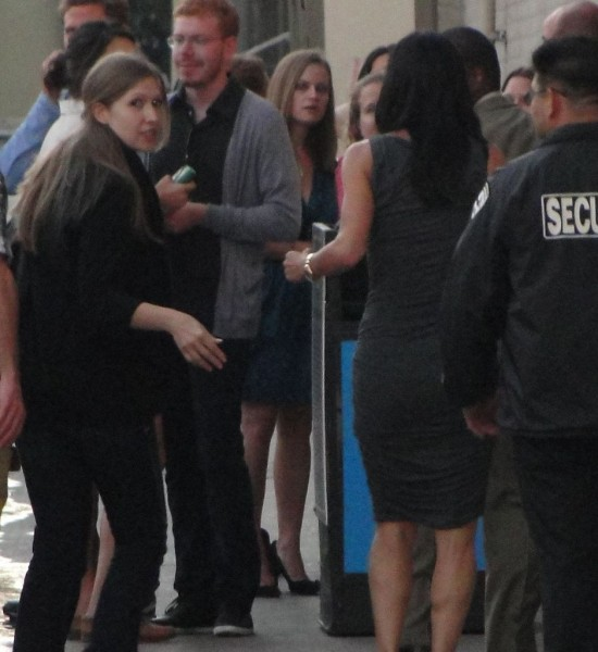 Courteney Cox arriving at Jimmy Kimmel