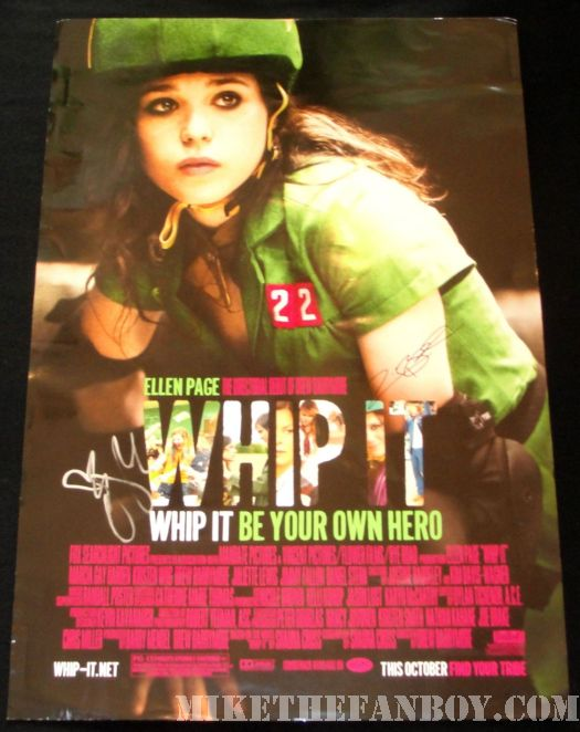 whip it mini movie poster rare signed autograph