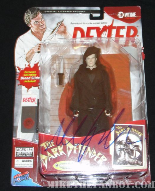 Dexter signed comic con action figure