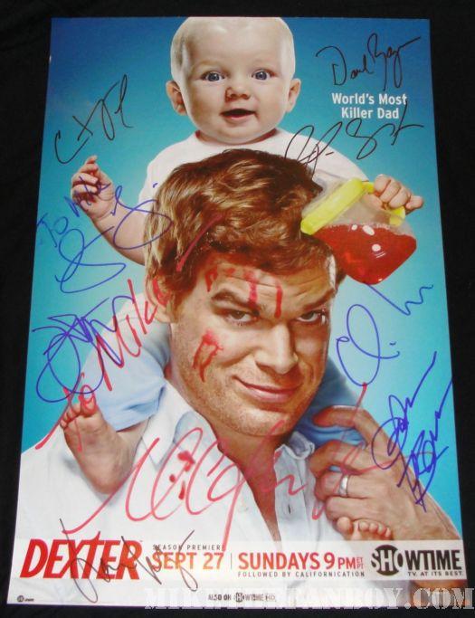 Dexter cast signed promo poster