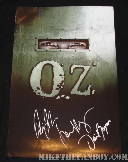 OZ David Zayas signed poster