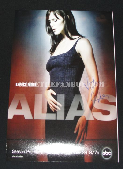 Alias signed poster Victor Garber autograph