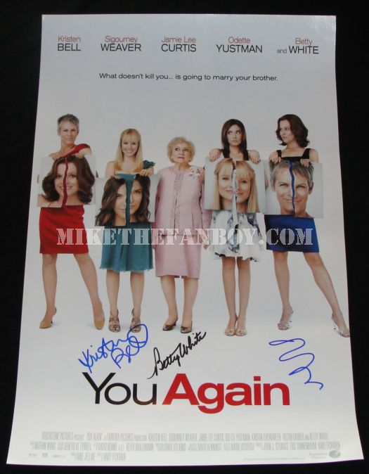 you again signed movie poster sigourney weaver
