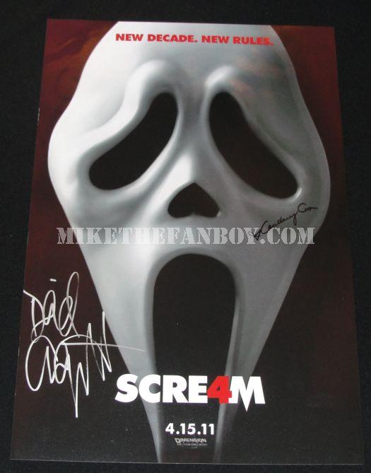 Scream 4 teaser poster signed