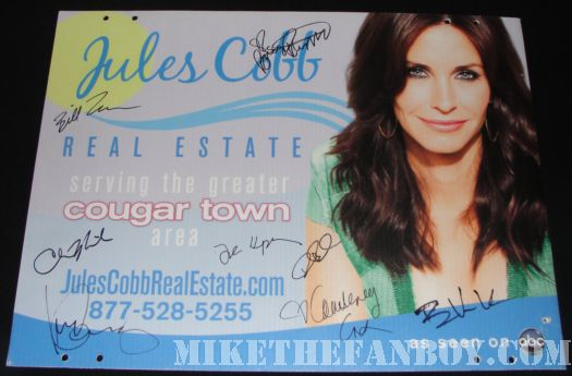 Stolen Jules Cobb Cougar Town Promo sign Signed