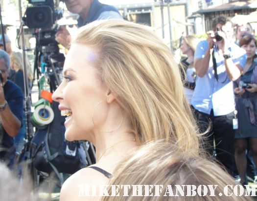 Kylie Minogue Signing Autographs at the Grove