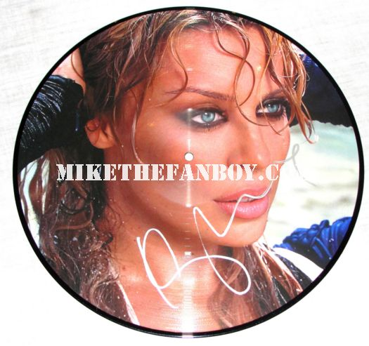 Kylie Minogue Signed Picture Disc Red Blooded Woman