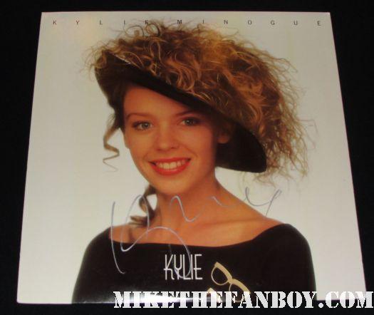 Autographed Kylie Minoge Kylie LP!
