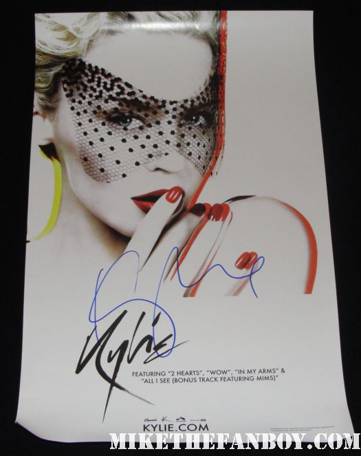 Kylie Minogue Rare promo poster for x autographed