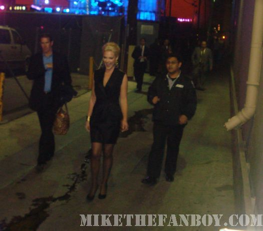 Katherine Heigl Signing Autographs for fans Jimmy kimmel