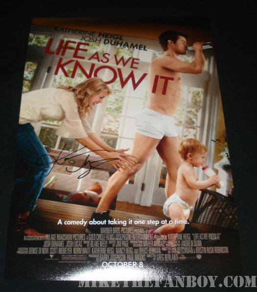 life as we know it signed movie poster katherine heigl