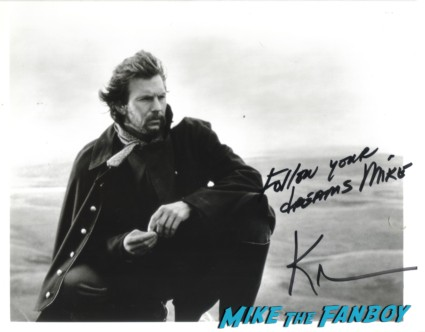 Kevin Costner hand signed autograph photo rare dances with wolves rare promo hot sexy field of dreams star