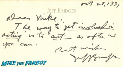 Jeff bridges hand written letter Jeff bridges signed autograph photo headshot rare promo hot sexy tron legacy star fabulous baker boys rare signature