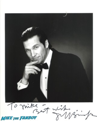 Jeff bridges signed autograph photo headshot rare promo hot sexy tron legacy star fabulous baker boys rare signature