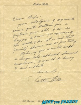 Esther Rolle signed autograph hand written letter signature good times maude all in the family star