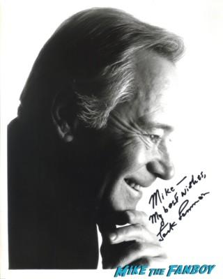 Jack Lemmon signed autograph promo photo hot headshot rare promo some like it hot