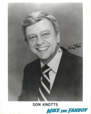 Don Knotts signed autograph headshot photo rare promo three's company the andy griffith show legend signature