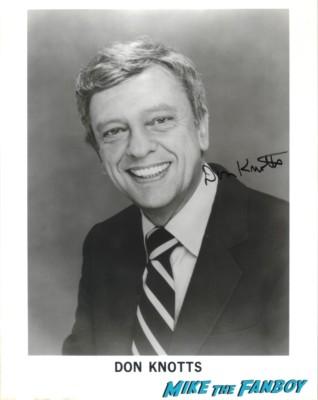 Don Knotts signed autograph headshot photo rare promo three's company the andy griffith show legend signature