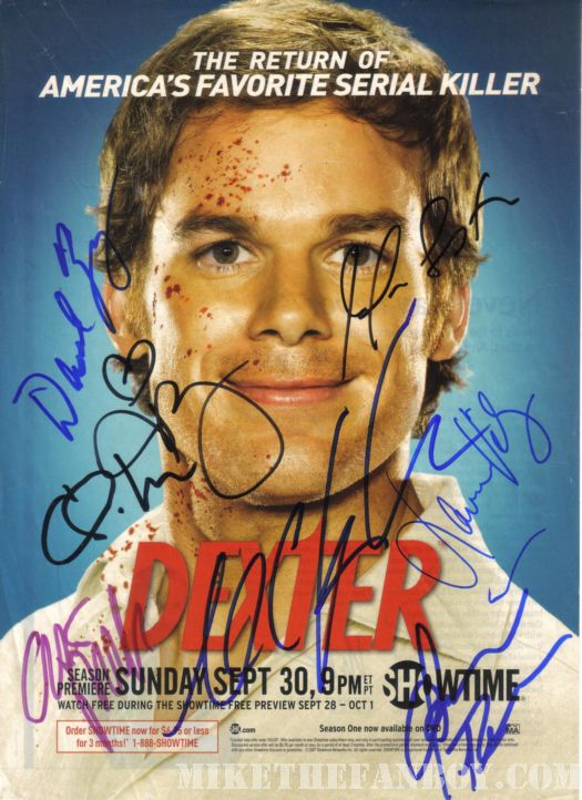 Dexter Signed promo poster rare!