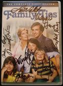 Michael J Fox family ties cast signed autograph dvd cover