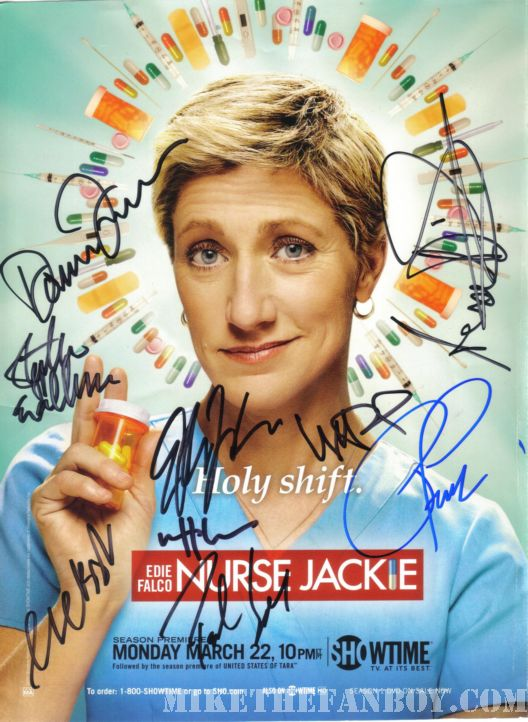 nurse jackie edie falco showtime signed autograph