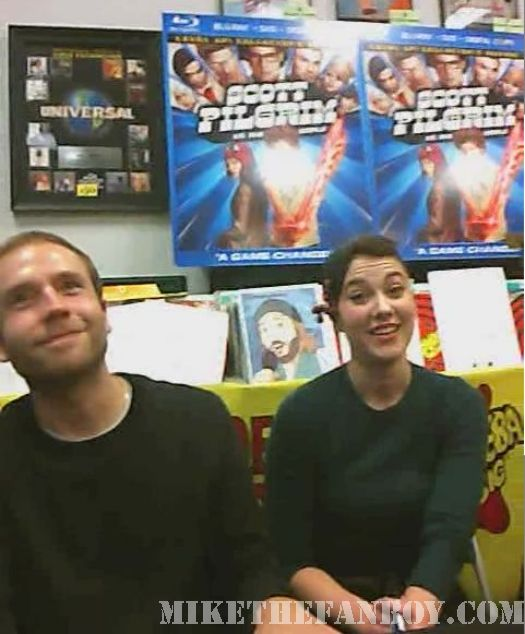 Scott Pilgrim Vs. The World DVD signing Mary Elizabeth Winstead Mark Webber Amoeba LA