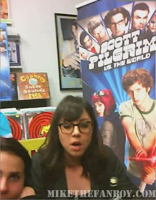 Scott Pilgrim Vs. The World DVD signing Aubrey Plaza amoeba hollywood los angeles