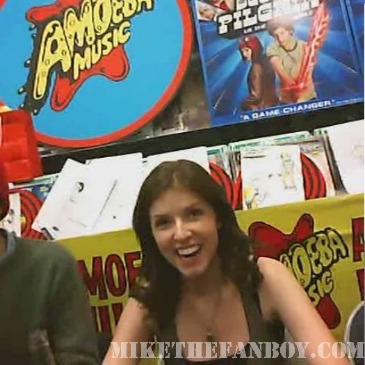 Scott Pilgrim Vs. The World DVD signing Anna Kendrick Amoeba Music