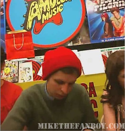 Scott Pilgrim Vs. The World DVD signing Michael Cera Nick and Nora's Infinite Playlist