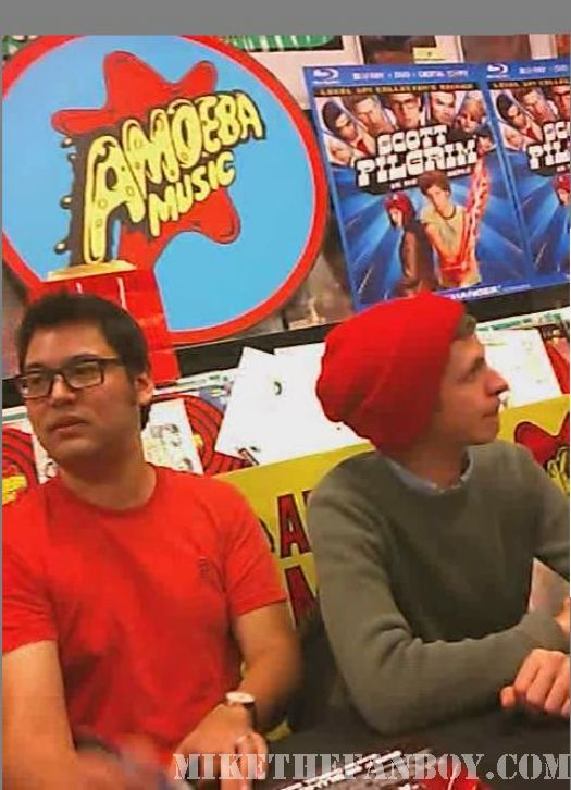 Scott Pilgrim Vs. The World DVD signing Michael Cera Bryan Lee O'Malley