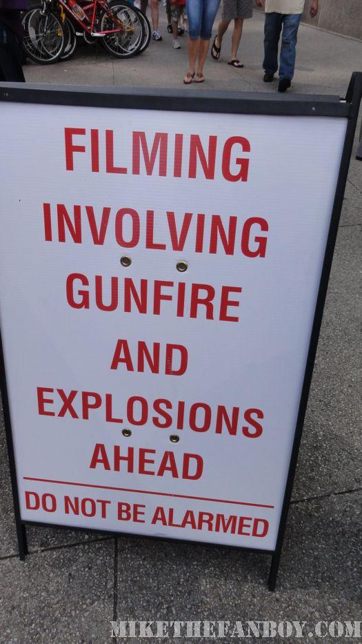 Transformers 3 Shia LaBeouf Josh Duhamel Rare Chicago Shooting On set