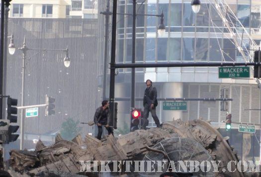 patrick dempsey shia lebeouf transformers rare shooting on set