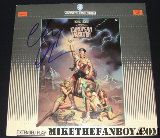 chevy chase european vacation signed poster