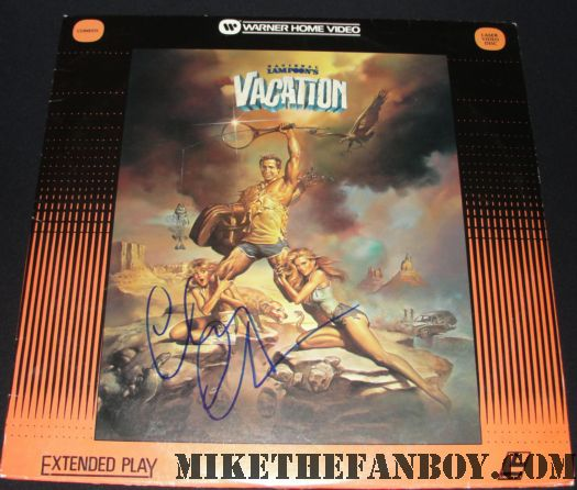 chevy chase signed vacation laserdisc