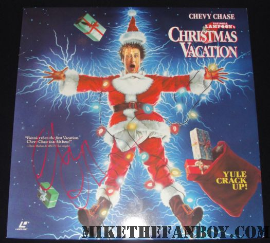chevy chase christmas vacation poster signed autograph
