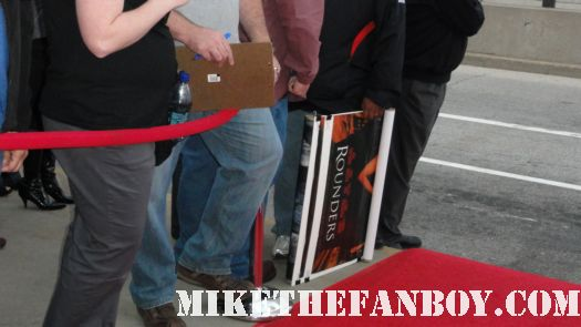 Edward Norton fans lined up on the red carpet getting nothing