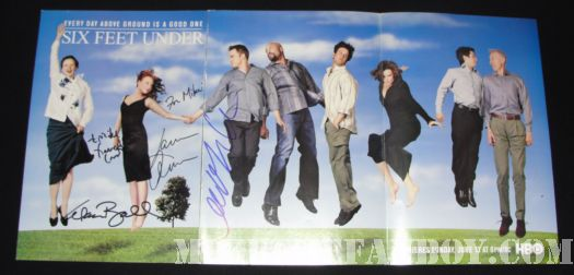 Francis Conroy signed autograph six feet under poster