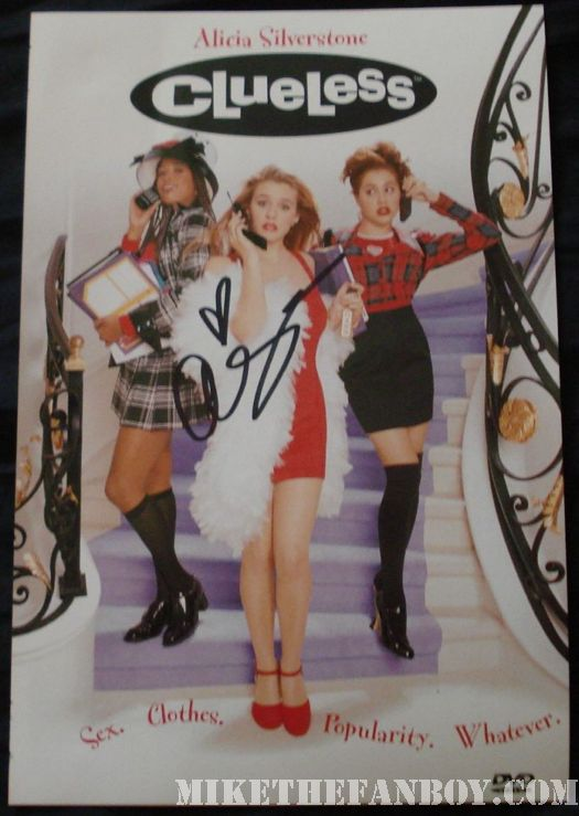 Alicia Silverstone signed Clueless DVD