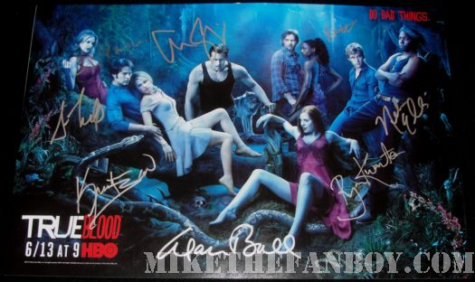 True Bloods season 3 cast poster signed rare autograph
