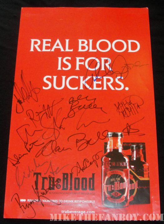 true blood cast signed promo poster autograph anna paquin