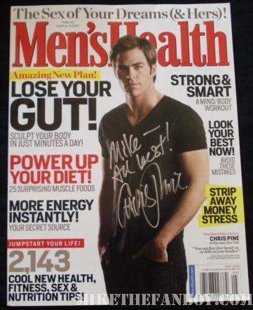 Chris pine Men's Health magazine