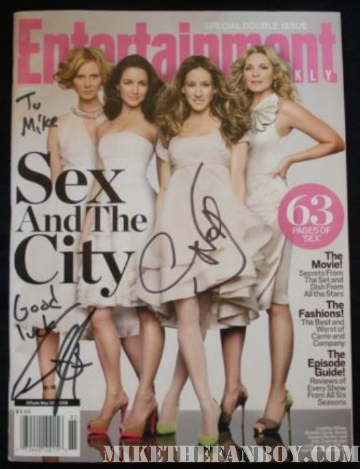sex and the city chris noth signed magazine