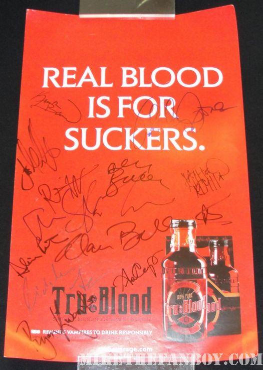 True Blood cast signed promo poster autograph signed Kristen Bauer