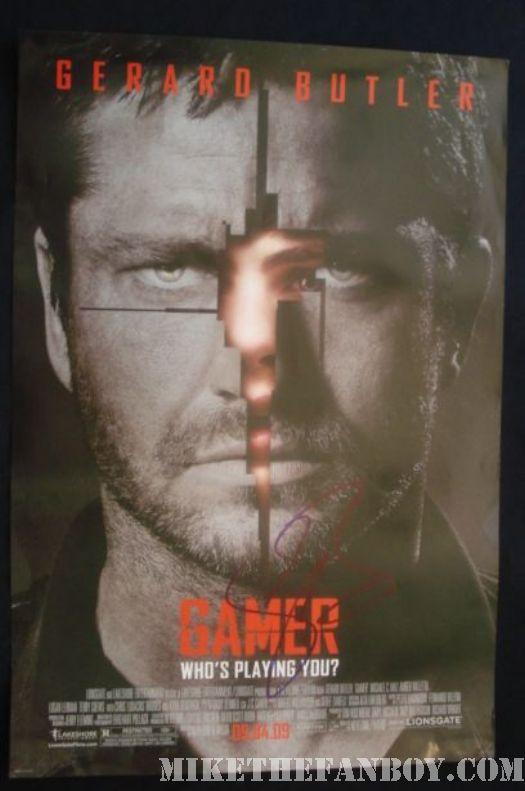 gerard butler gamer 300 promo mini poster