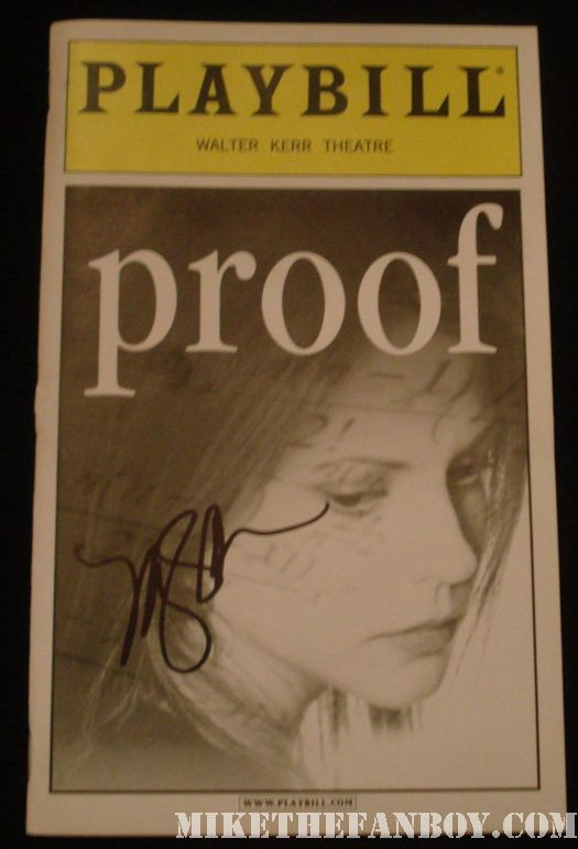 Mary Louise Parker signed proof broadway playbill