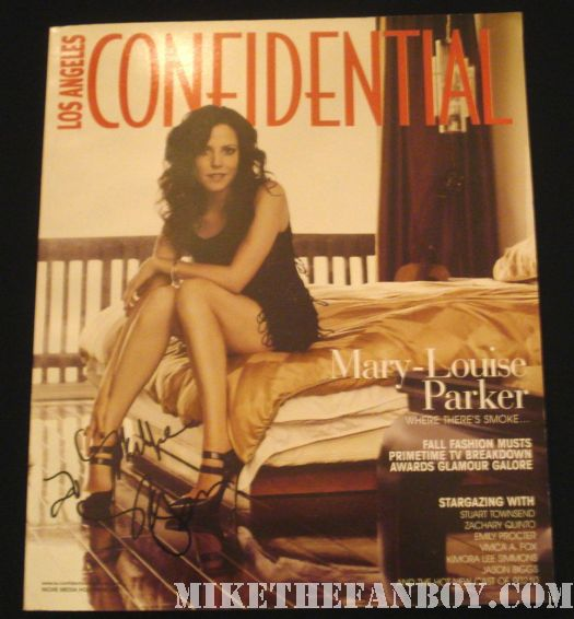 mary louise parker signed la confidential magazine rare