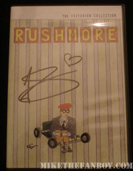 Jason Schwartzman Rushmore sutographed dvd scott pilgrim