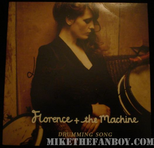 Florence and the machine signed cd single drumming song